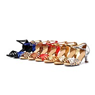 Women's Satin Ankle Stripe Latin Dance Shoes Sandals(More Colors)