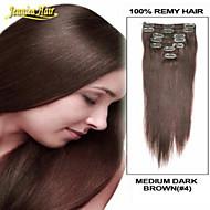 Klip na prodlužování vlasů na 14 až 34 palců 7ks stanovených 100g klip v Remy 100% prodlužování lidské vlasy člověk více barev