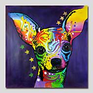 peinture à l'huile peinte à la main sur toile art mural pop art chien mignon un panneau prêt à accrocher