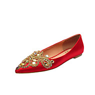 Women's Wedding Shoes Comfort / Pointed Toe / Closed Toe Flats Wedding / Party & Evening / Dress Red / Champagne