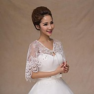 Wedding  Wraps Capelets Sleeveless Lace White Wedding / Party/Evening / Office & Career / Casual Halter Rhinestone Lace-up