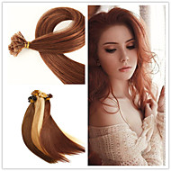 "18""-28"" 50g/lot  1g/strand Indian Virgin Hair Fusion Hair Extension Flat Tip Hair Extension"