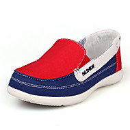 Women's Summer Fall Moccasin Canvas Office & Career Casual Flat Heel Blue Green Red