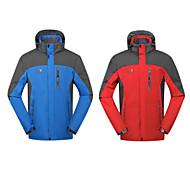 Jaqueta ( Vermelho / Azul ) - de Acampar e Caminhar / Caça / Pesca / Alpinismo / Ciclismo - Homens -Impermeável / Respirável /