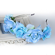 The New Bride Flower Hair Simulation Elegant Flower Headband