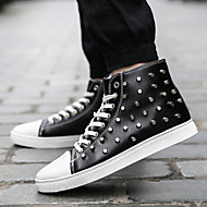Men's Shoes Office & Career / Athletic / Casual Canvas / Fashion Sneakers Black / White
