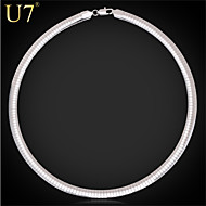 U7® Unisex's Collar Snake Chain 316L Stainless Steel/18K Real Gold Plated Vintage 8MM Choker Necklace