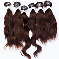 Человека ткет Волосы Индийские волосы Естественные волны 12 месяцев волосы ткет