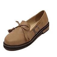 Women's Shoes Low Heel Heels/Comfort/Closed Toe Heels Office & Career/Casual Brown/Gray