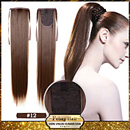 Excellent Quality Synthetic 22 Inch Long Straight Honey Brown (#12) Ribbon Ponytail Hairpiece