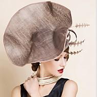 Capacete Chapéus Casamento / Ocasião Especial Linho Mulheres Casamento / Ocasião Especial 1 Peça