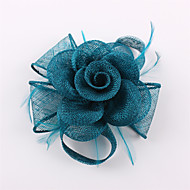 Handmade Sinamay Flower Feather Brooch Fascinators Clip Headpiece (more colors)