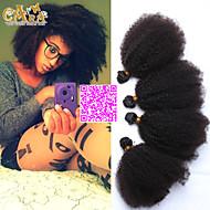 6a cara hiustuotteita Mongolian Kinky tukka pidennykset 4kpl afro perverssi kiharat neitsyt hiuksista kutoa luonnollinen musta