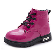 Girls' Shoes Casual Fashion Boots Patent Leather Boots Black / Blue / Yellow / Pink