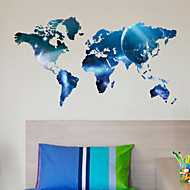 Planet World Map Wall Stickers Art Decals