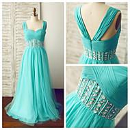Formal Evening Dress - Jade A-line Straps Floor-length Chiffon / Tulle