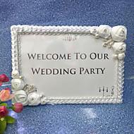 Einzigartiges Hochzeits-Dekor ( Weiß , Satin / Acryl ) - Nicht personalisiert