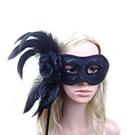 Women's Lace / Feather Headpiece - Wedding / Special Occasion Masks 1 Piece