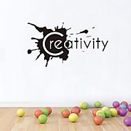 벽 스티커 벽 데칼 스타일의 창의력 영어 단어&PVC 벽에 스티커를 인용