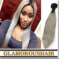 "3 Pcs/Lot 12""-26"" Top Quality 100% Peruvian Virgin Human Hair #1B-Grey Color Ombre Body Wave Hair Weaves"