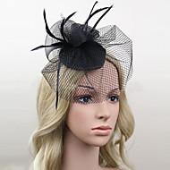 Women's Satin/Feather/Net Headpiece - Wedding/Party Birdcage Veils 1 Piece