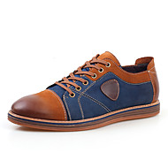 Men's Shoes Casual Leather Oxfords Brown / Gray