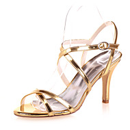 Women's Spring / Summer / Fall Open Toe Patent Leather Wedding / Party & Evening Stiletto Heel Black / Blue / Silver / Gold