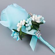 פרחי חתונה בצורה חופשיה ורדים פרחי דש חתונה / חתונה/ אירוע סאטן / סאטן אלסטי