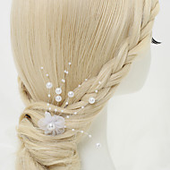 Women's/Flower Girl's Alloy/Imitation Pearl/Chiffon Headpiece - Wedding/Special Occasion Hair Pin 1 Piece