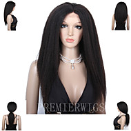 Premierwigs 8A Kinky Straight Brazilian Virgin Full Lace Human Hair Wigs Lace Front Wigs With Baby Hair For Black Women
