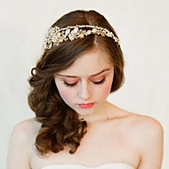 Europe And The United States The New Bride High-End Tire Pure Manual Hair Hoop Gold Crystal Diamond Crown