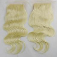 """10""""12""""14""""16""""18"""" Dentelle complette Ondulation naturelle Cheveux Rémy Fermeture Dentelle Suisse 60 gramme Moyenne Taille du Bonnet"""