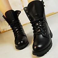 Chaussures Femme - Habillé / Décontracté - Noir - Talon Bas - Bottine - Bottes - Similicuir