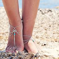 női retro többrétegű bojt lánc egyetlen anklet