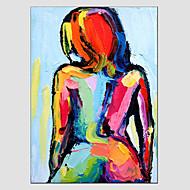 Ручная роспись Абстрактные портретыModern / Европейский стиль 1 панель Холст Hang-роспись маслом For Украшение дома