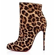 Women's Shoes Fleece Stiletto Heel Bootie Boots Office & Career / Party & Evening / Dress Brown