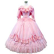 Steampunk®Civil War Southern Belle Ball Gown Dress Pink Victorian Dress Halloween Party Dress