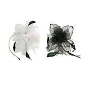 Women's Tulle Flower Fascinator Headband(Assorted Color)