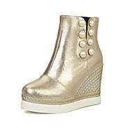 נעלי נשים - מגפיים - נצנצים - מעוגל / סגור - שחור / לבן / כסוף / זהב - משרד ועבודה / שמלה / קז'ואל - עקב וודג'