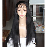 Cheap 6A Grade Yaki Straight Wigs For Black Women Brazilian Virgin Hair Full Lace Wigs