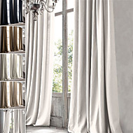 TWOPAGES Premium 100% natural Linen Oil-Rubbed Bronze Finish Grommet Curtain Drapery One Panel