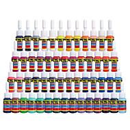 encre de tatouage Solong 54 couleurs définies 5ml / bouteille tatouage kit de pigment
