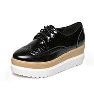 Women's Shoes Leatherette Platform Round Toe Oxfords Casual Black / Beige