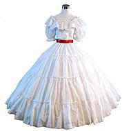 One-Piece Gothic Lolita Steampunk®/Victorian Cosplay Lolita Dress White Solid Short Sleeve Dress For Women Civil War Southern Belle Ball Gown Dress