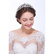 Women's Sterling Silver / Alloy / Imitation Pearl Headpiece-Wedding / Special Occasion / Casual Tiaras 1 Piece Clear / Ivory Round