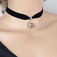 Women's Vintage Hollow Heart Pendant Short Necklace