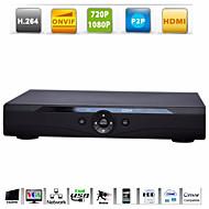 8ch 720p / 1080p 4ch Onvif h.264 survillance HDMI rangkaian video perakam NVR