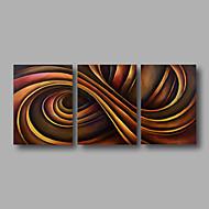 bereit, handgemalte Ölgemälde auf Segeltuchwandkunst zeitgenössische abstrakte braune Farbe Home Deco drei Panel hängen
