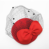Women's / Flower Girl's Tulle / Velvet Headpiece - Wedding / Special Occasion Birdcage Veils 1 Piece