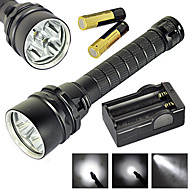 LT  2 Mode 6800 Lumens LED Flashlights 18650 Waterproof/Rechargeable/Impact  Cree XM-L2